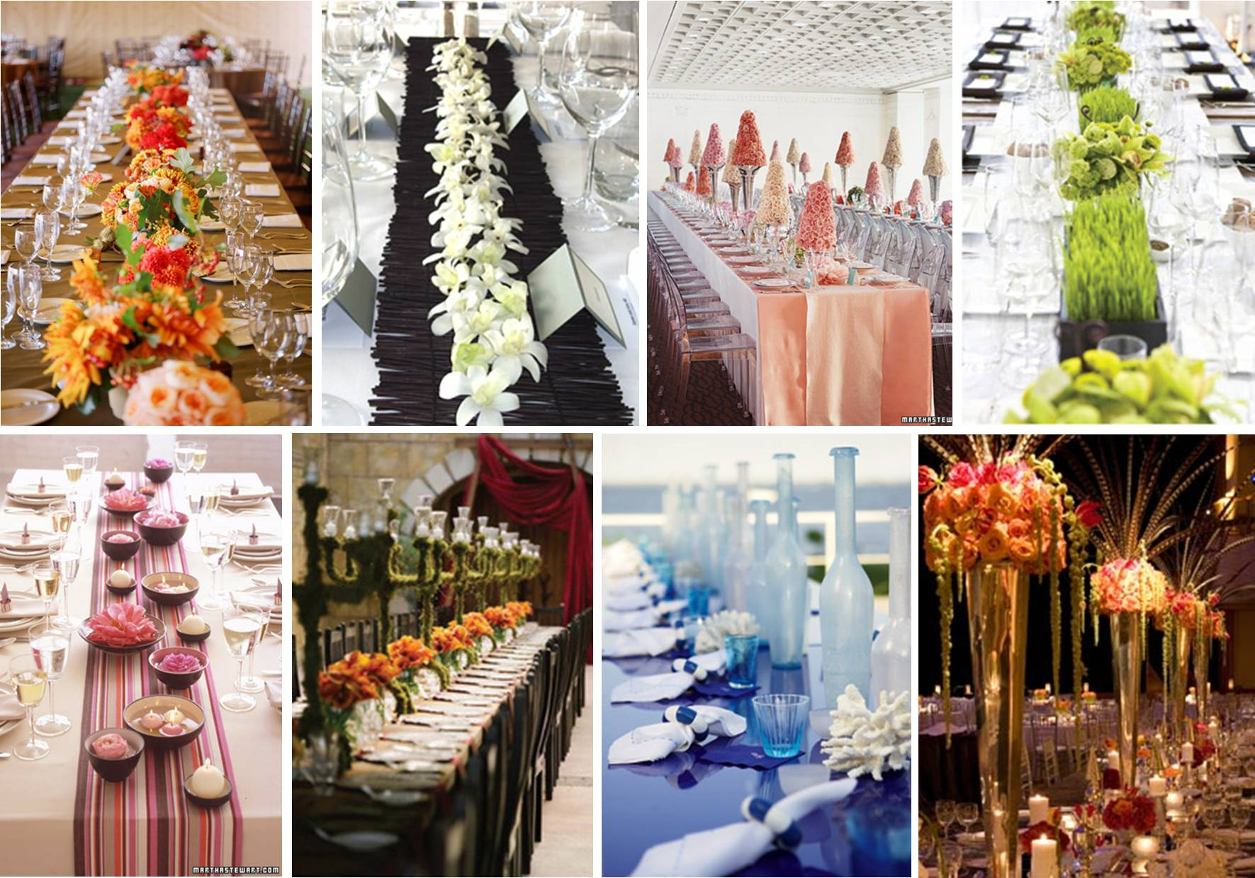 Centerpiece Ideas : wedding Long Table Centrepieces1