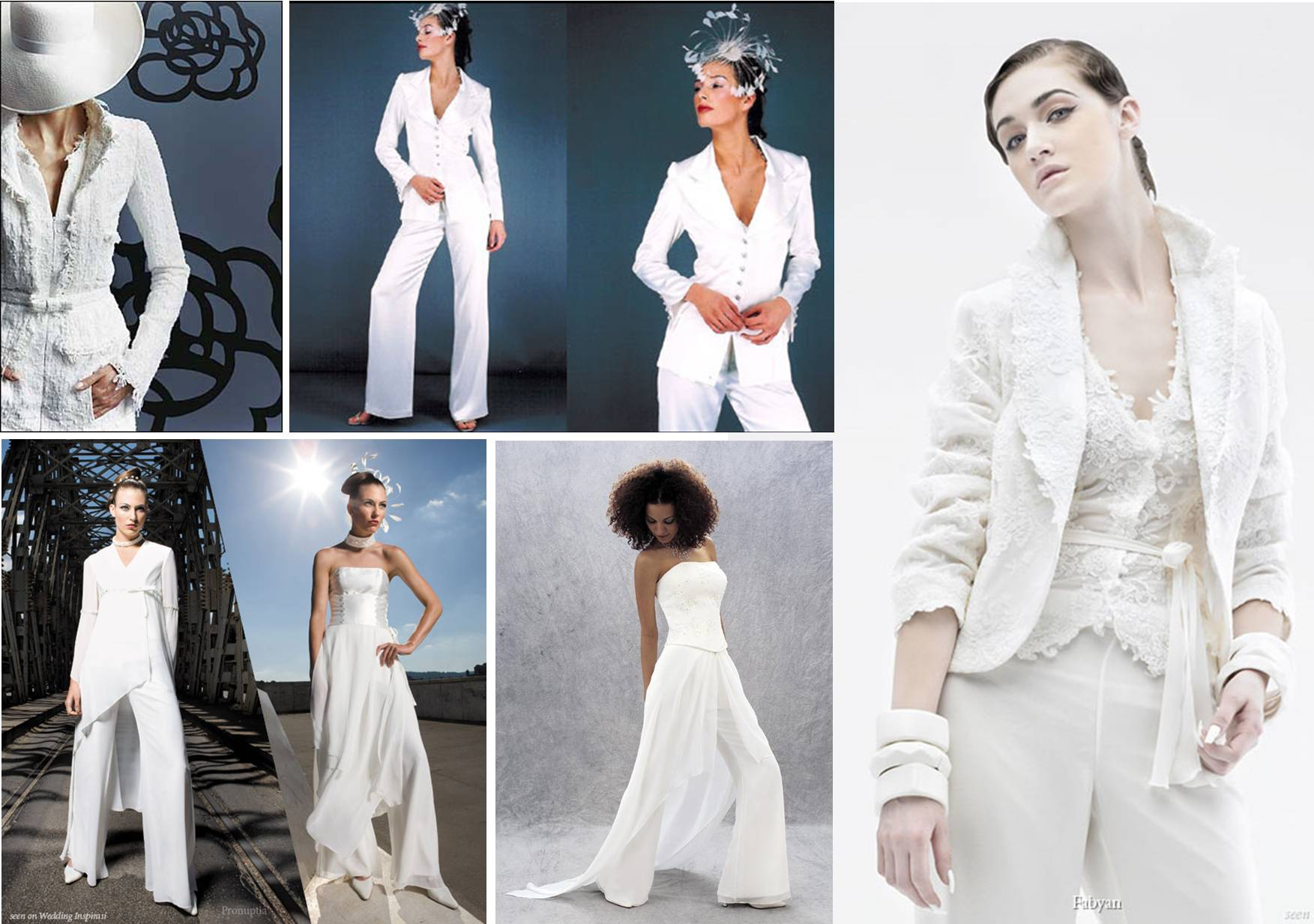 Bridal suits discount prom dresses for Womens white dress suit wedding