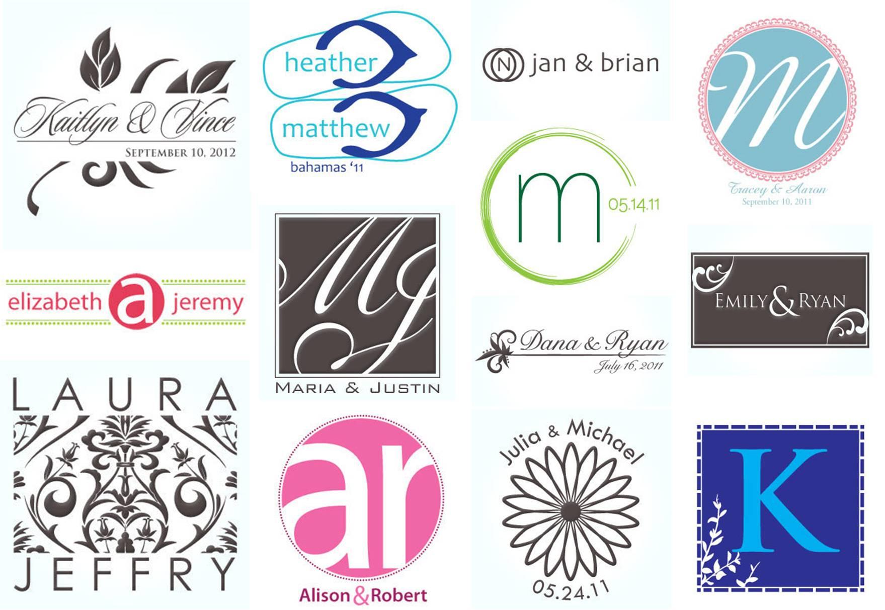 wedding dress logo design monogram initial logo bing images
