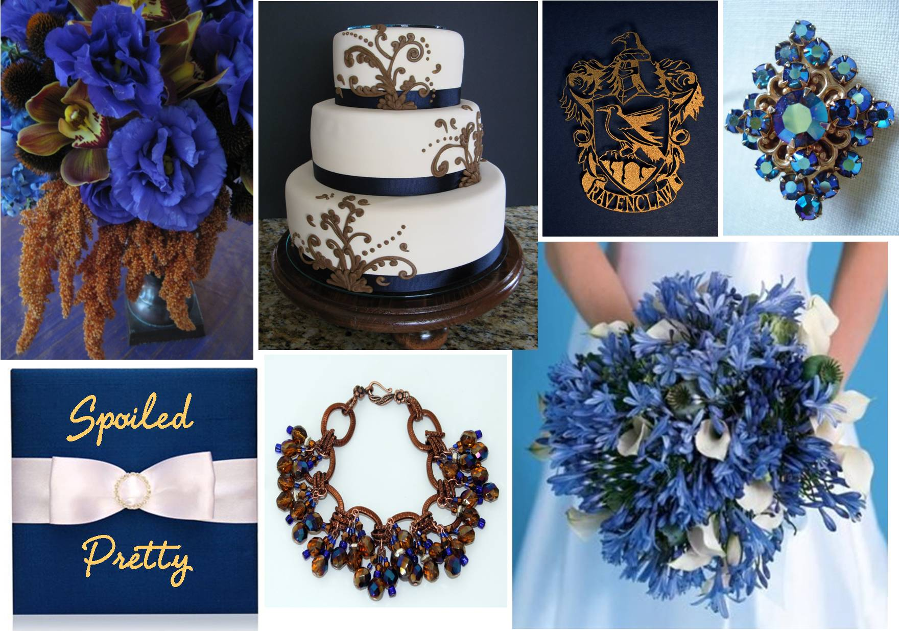 Navy blue wedding cake ideas and designs for Navy blue wedding theme ideas