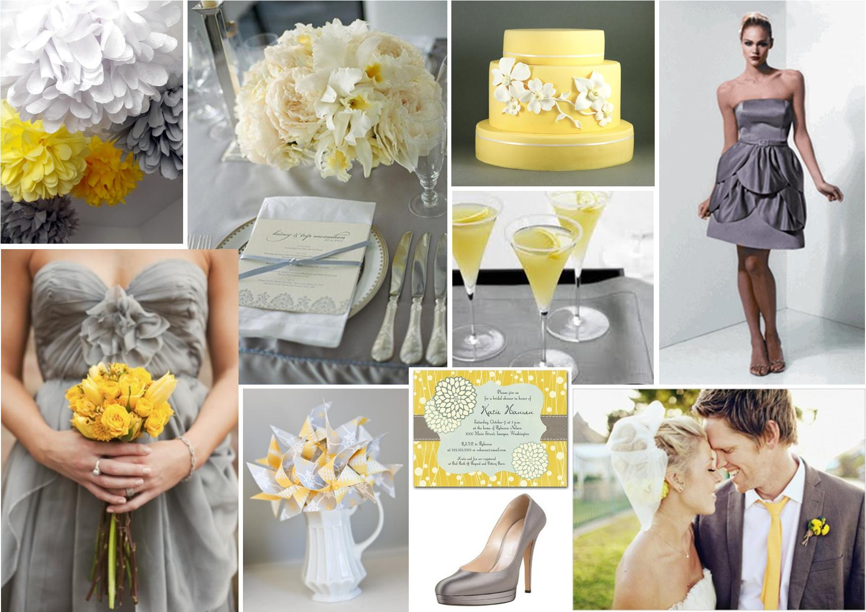 Wedding Decoration Ideas Yellow And Gray: Wedding colors yellow ...