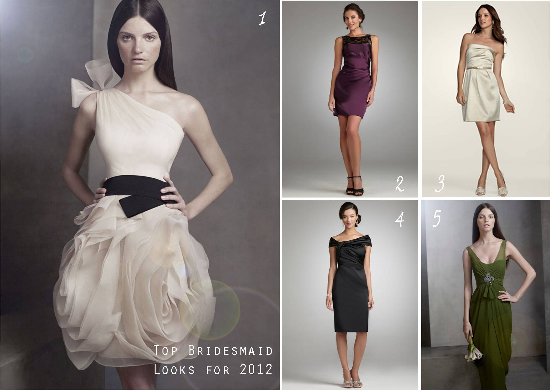 Contemporary Bridesmaid Dresses